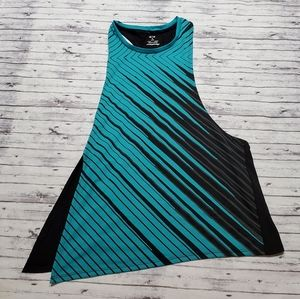 Oakley Tank Top Medium Asymmetrical Blue Black